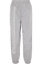 Alexander Wang T By Striped Shell Track Pants Silver