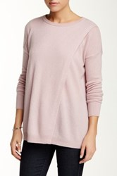 Sofia Cashmere Cross Over Cashmere Sweater Pink