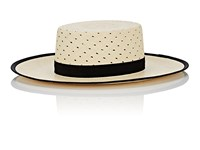 Janessa Leone Kenton Straw Boater Neutral