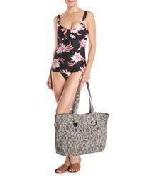 Seafolly Carried Away Luxe Eyelet Beach Tote Bag Snake