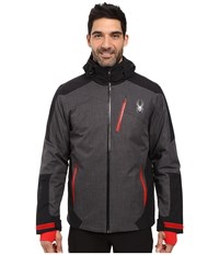 Spyder Chambers Jacket Polar Crosshatch Black Red Men's Coat