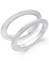 Alfani Bangle Bracelet Set Silver