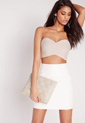 Missguided Cut Out Bralet Grey