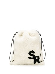 Simonetta Ravizza Shearling Mini Bag White