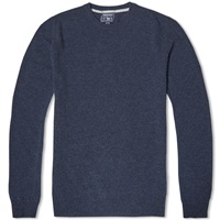 Woolrich Super Geelong Crew Knit Navy Melange