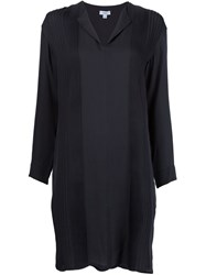 Vince V Neck Tunic Dress Black