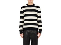Rag And Bone Men's Shane Striped Wool Sweater Black