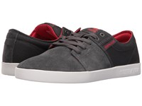 Supra Stacks Ii Dark Grey Red White Men's Skate Shoes Black