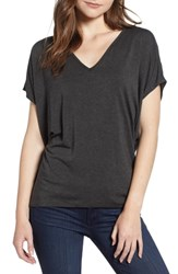 Amour Vert 'Mayr' V Neck Tee Anthracite