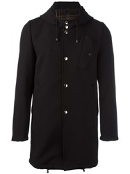 Daniele Alessandrini Hooded Coat Black