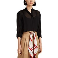 Manning Cartell Reaction Lace Trimmed Chiffon Blouse Black