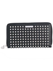 Alexander Mcqueen Studded Zip Wallet Men Leather Metal One Size Black