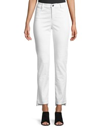 Grayse Sateen Straight Leg Jeans White