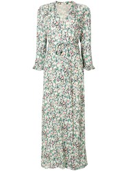 Vilshenko Floral Wrap Dress Green