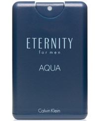 Calvin Klein Eternity Aqua For Men Pocket Spray .67 Oz No Color