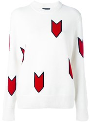 Rag And Bone Patterned Jumper White