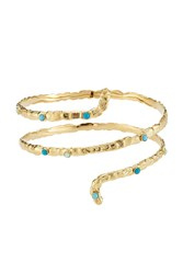Gas Bijoux Liane 24K Gold Plated Cuff With Glass Rocailles