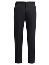 Lanvin Slim Leg Cotton Chino Trousers Navy