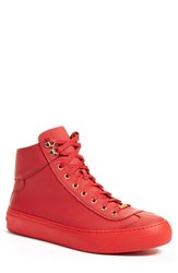 Jimmy Choo Men's 'Argyle' High Top Sneaker Red Leather