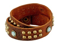 Leather Rock B460 Tobacco Bracelet Brown
