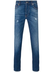 Givenchy Cuban Fit Distressed Jeans Blue