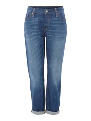 Levi's 501 Ct Boyfriend Tapered In Crate Digger Denim Mid Wash