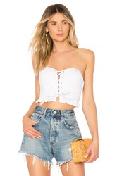 By The Way Kasey Lace Up Corset White