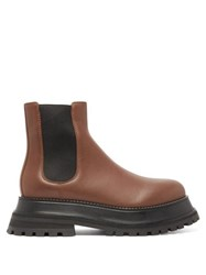 Burberry Braemar Chunky Leather Chelsea Boots Tan