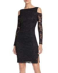 Laundry By Shelli Segal Cold Shoulder Lace Dress Black
