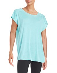 Calvin Klein Knit Keyhole Top Freshwater Blue