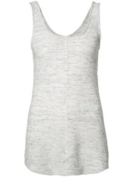 The Lady And The Sailor Fitted Vest Top Women Cotton Iii White