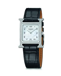 Hermes Heure H Watch Stainless Steel And Alligator Strap