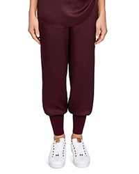 Ted Baker Says Relax Aibrey Satin Jogger Pants Oxblood