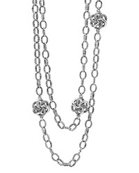 Lagos Sterling Silver Love Knot Link Necklace 34