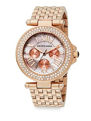 Saks Fifth Avenue Mother Of Pearl And Rose Goldtone Stainless Steel Chronograph Watch