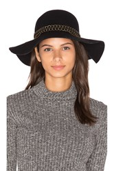 Michael Stars Mixed Metal Floppy Hat Black