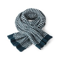 Kipling Knitted Chunky Scarf Blue