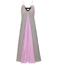Christopher Kane Exclusive To Mytheresa.Com Plaid Cotton Dress Multicoloured
