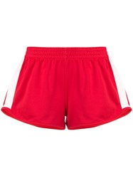 Calvin Klein Jeans Side Stripe Shorts Red