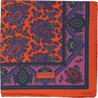 Duchamp 'Lord Paisley' Pocket Square Red