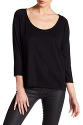 Harlowe And Graham 3 4 Length Dolman Sleeve Shirt Black