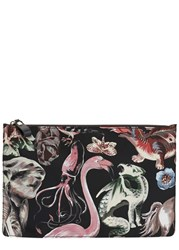 Valentino Animal Print Twill Pouch Multicoloured