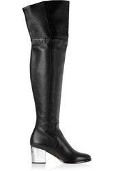 Jimmy Choo Mercer Textured Leather Over The Knee Boots