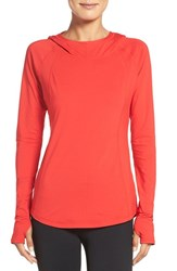 Zella Women's Technique Hooded Pullover Red Pepper