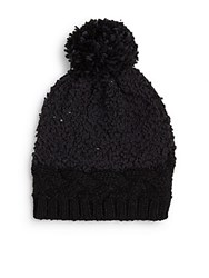 Saks Fifth Avenue Cable Knit Hat Black