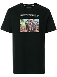 House Of Holland Photo Print T Shirt Cotton Black