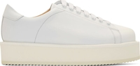 Damir Doma Optic White Leather Fimis Platform Sneakers
