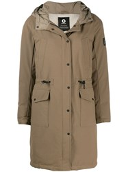 Ecoalf Hooded Parka Coat Brown