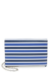 Halogen Flap Crossbody Bag Blue Blue Twilight Stripe