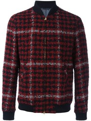 Etro Checked Bomber Jacket Red
